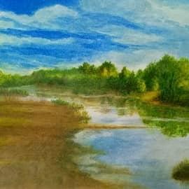 Рассвет на реке Серена