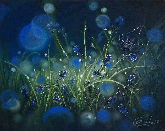 Голубая трава