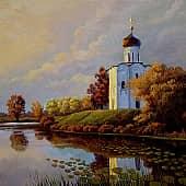 Осенняя позолота, художник Геннадий Литвиненко