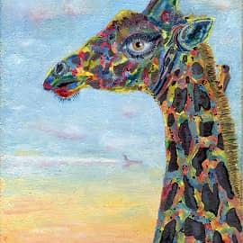 Жирафа с человеческим глазом