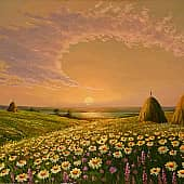 Ромашковый рай, художник Геннадий Литвиненко
