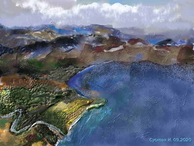 Мыс Травяной и Курильское озеро
