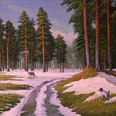 Ранняя весна, художник Геннадий Литвиненко