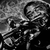 Louis Armstrong (1), художник Евгения Негода