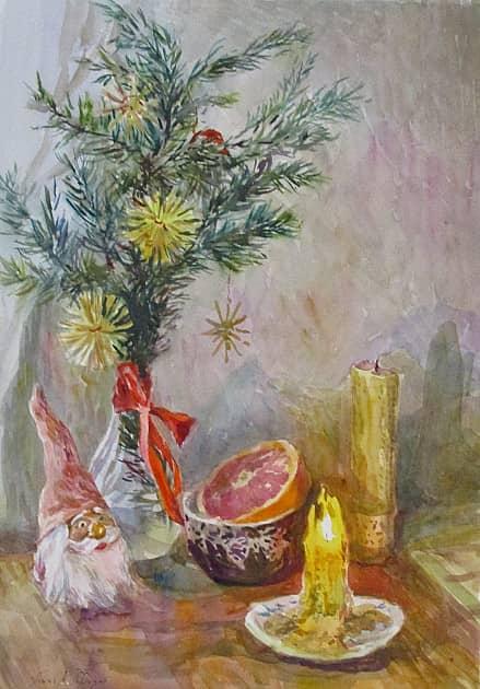 Магия рождественской свечи и гном.