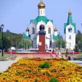 """""""Церковь Александра Невского"""" в моём г.Знаменск (1), художник Elena Salomatina"""