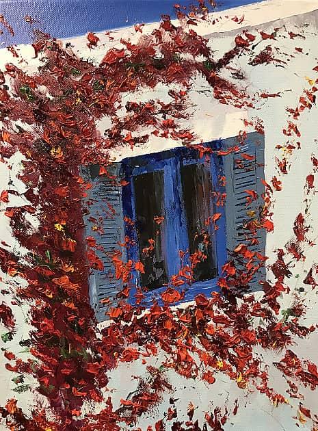 Синее окно