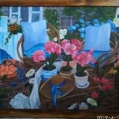 Утро на даче (2), художник Елена