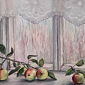Яблоки, художник Лариса Яркулова