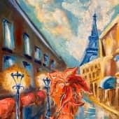 Девочка осень (1), художник Телешко Елена