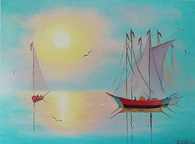 Яхты на рассвете