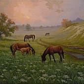 Пора утренней росы, художник Геннадий Литвиненко