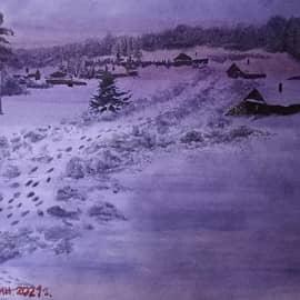 Ночь в деревне