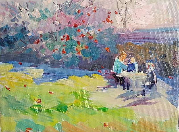 Полдник в английском саду.