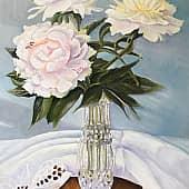 Пионы, художник Ольга Шибанова