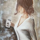 Утренний чай, художник Татьяна