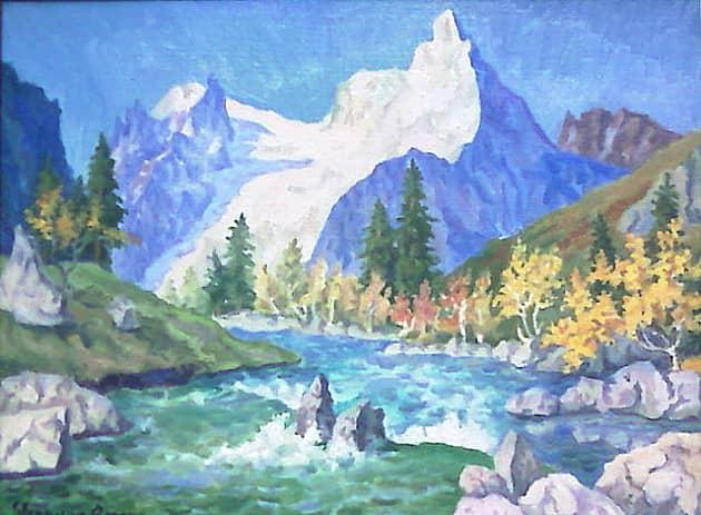 Горная река в Домбае