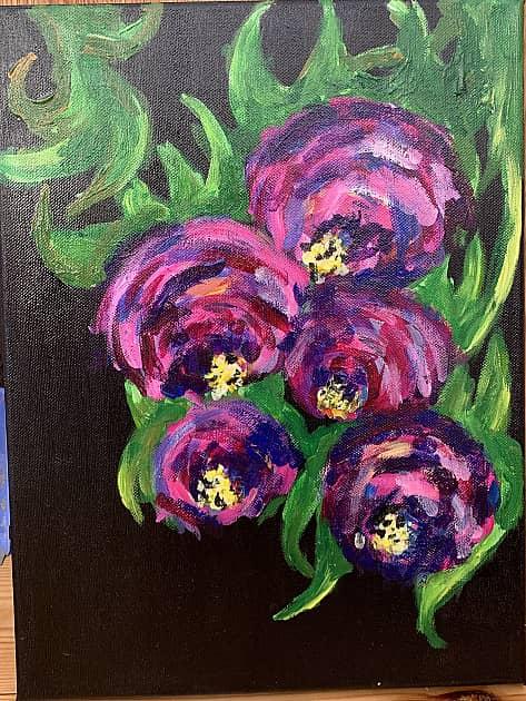 Цветы на чёрном 2