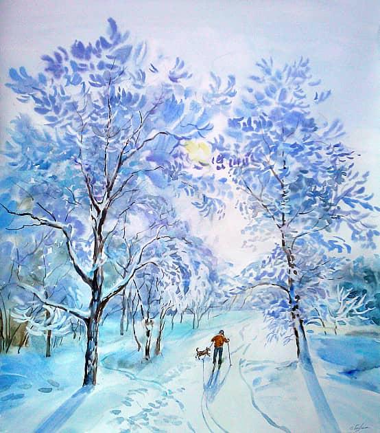 Голубой февраль