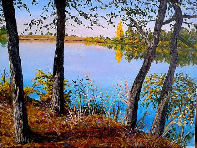 """Пленэр """"Осень на моей реке Ахтуба"""""""