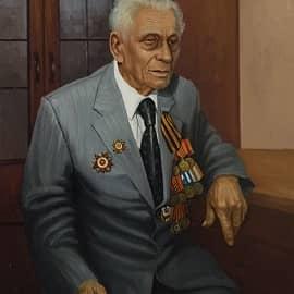 Портрет ветерана ВОВ М.В. Гончарова