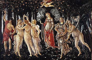 Сандро Боттичелли, Весна, 1482, Галерея Уффици, Флоренция